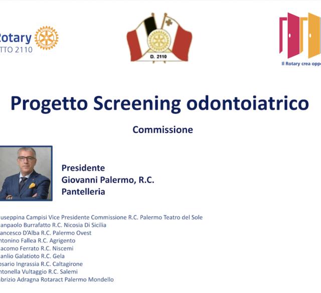 Progetto Screening odontoiatrico