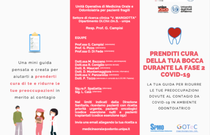 Flyer : Andare dall'odontoiatra in tempo di COVID-19, fase 2