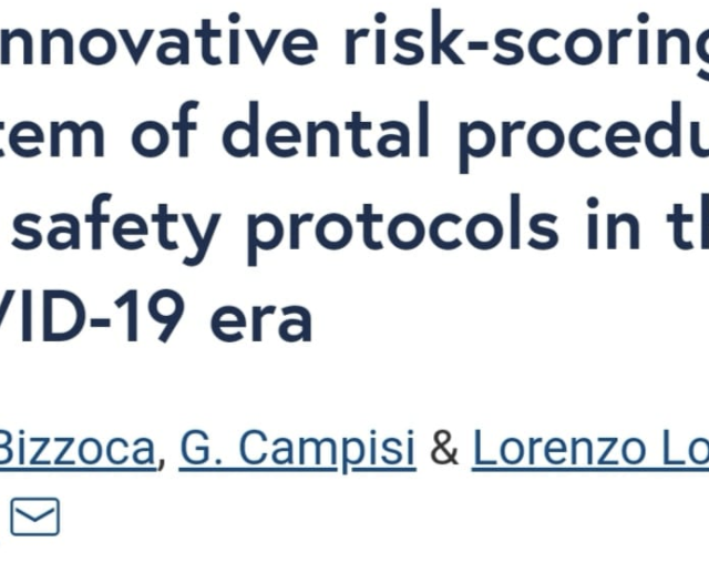 An innovative risk-scoring system of dental procedures and safety protocols in the COVID-19 era
